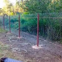 Забор из сетки рабицы_1
