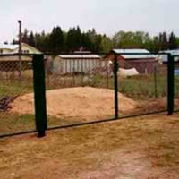 Забор из сетки рабицы_4