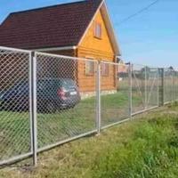Забор из сетки рабицы_6